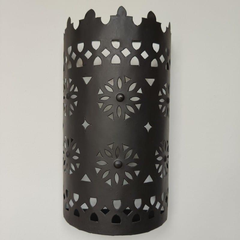 Aplique arabe de hierro y cristal vista completa