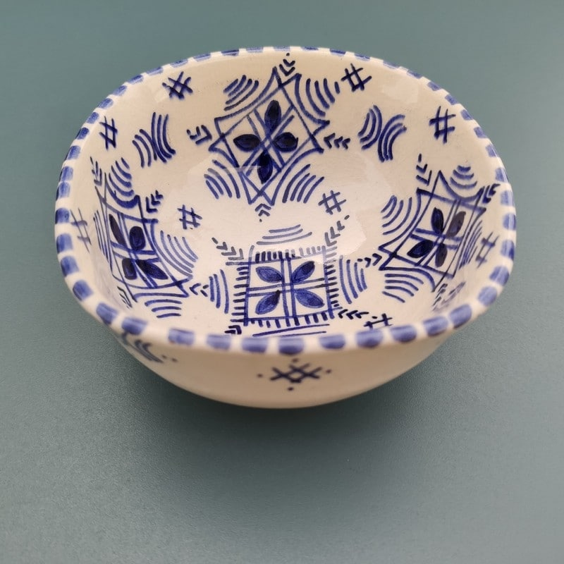 cuenco de cerámica marroquí pintada