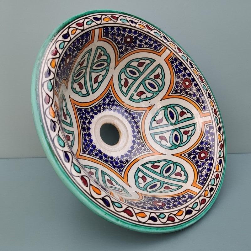 lavabo de cerámica grande pintado