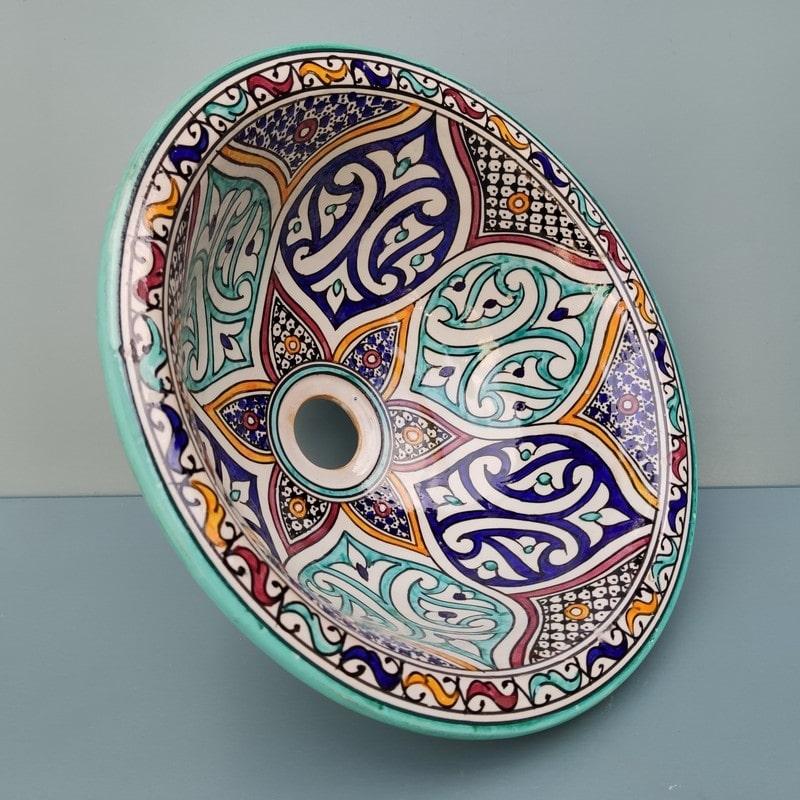 lavabo cerámica de marruecos