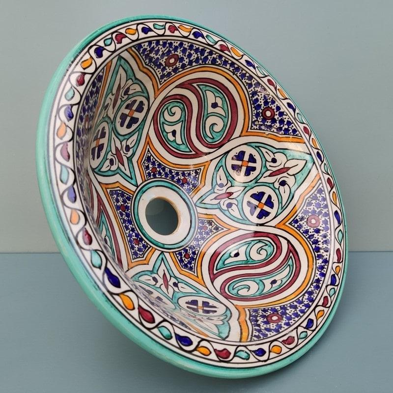 lavabo cerámica con dibujo andalusi