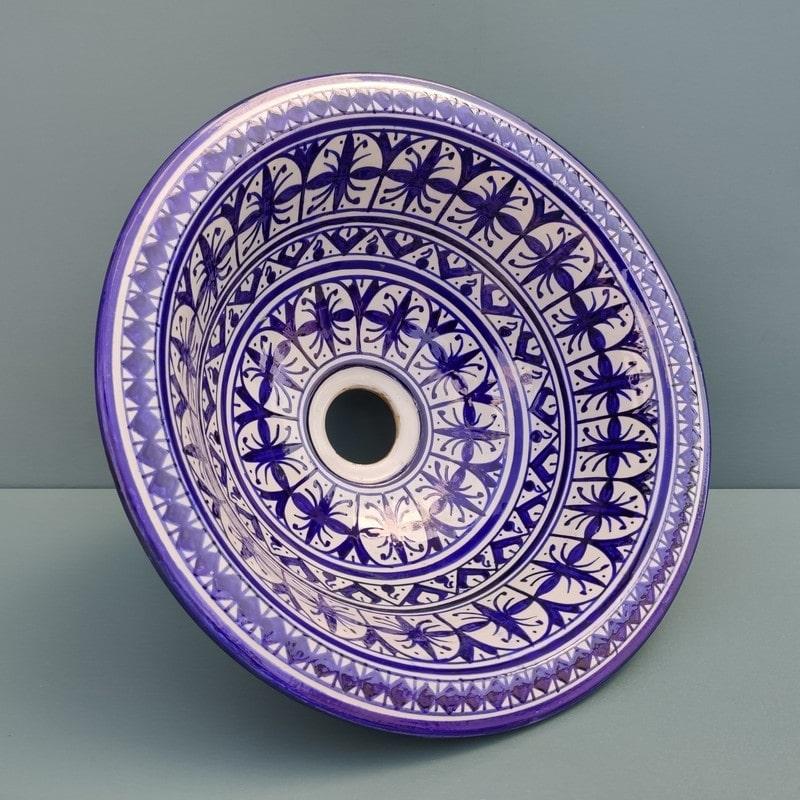 lavabo de cerámica pintado