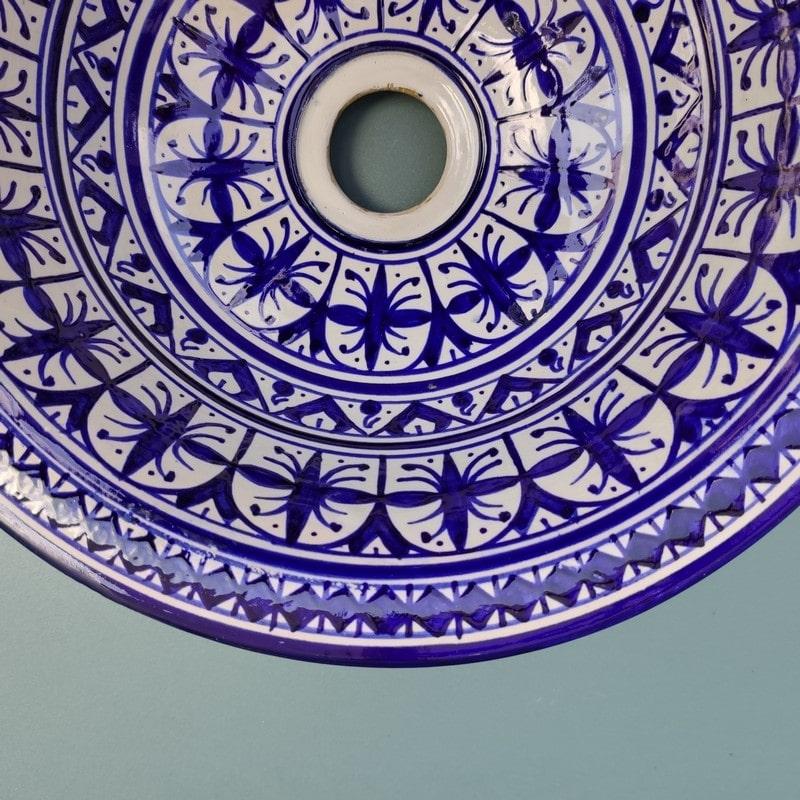 lavabo de cerámica marroquí