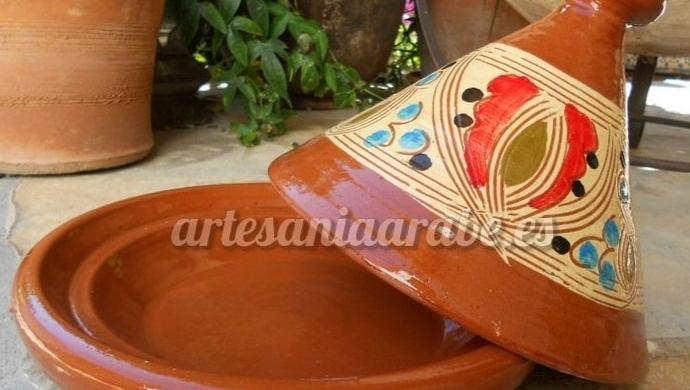 tajine de cerámica marroquí hecho a mano
