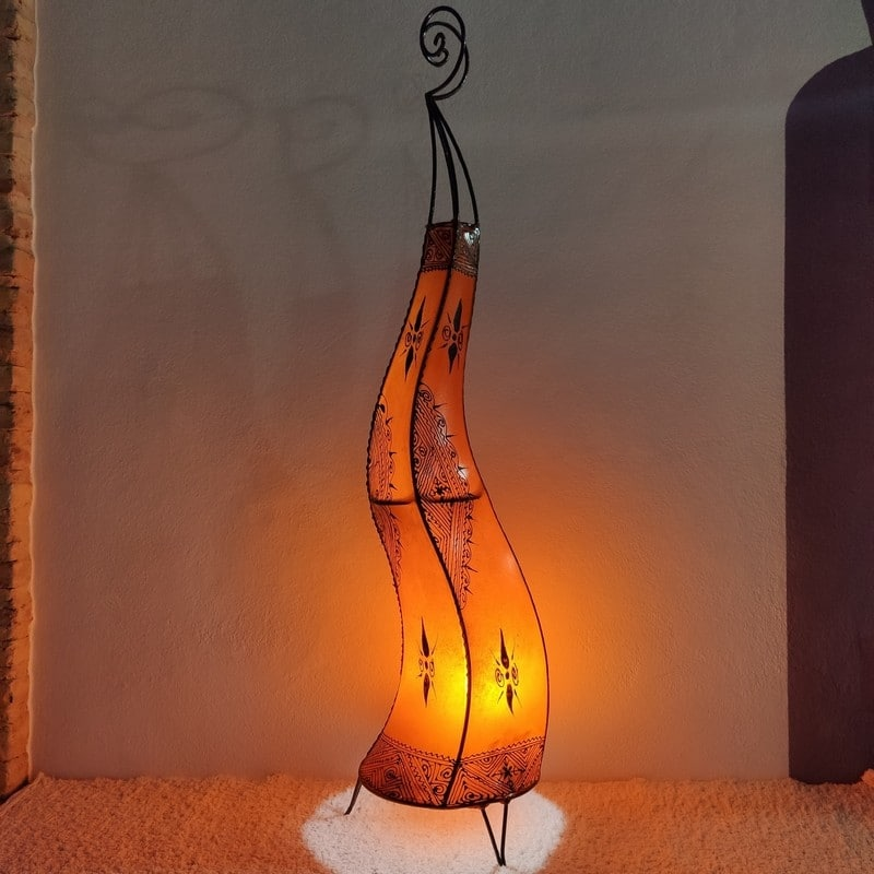 lámpara rústica de marruecos