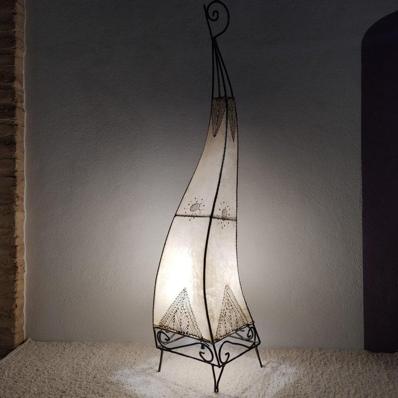 lámpara de piel marroquí