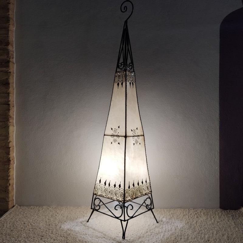lámpara piel marroquí