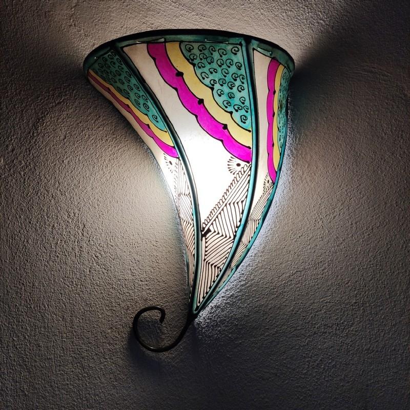 lámpara marroquí de pared