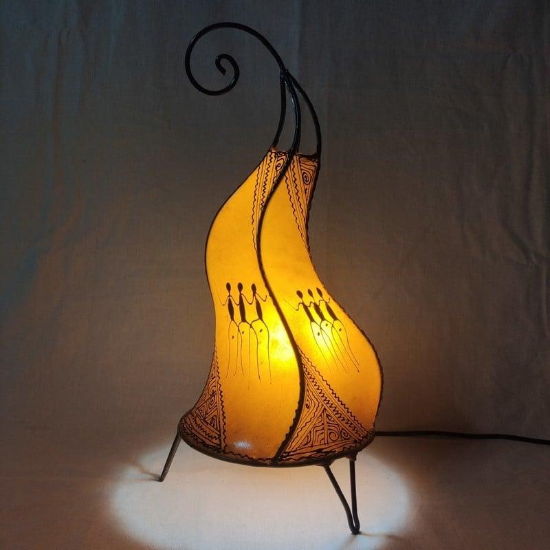 lámpara de piel de mesa