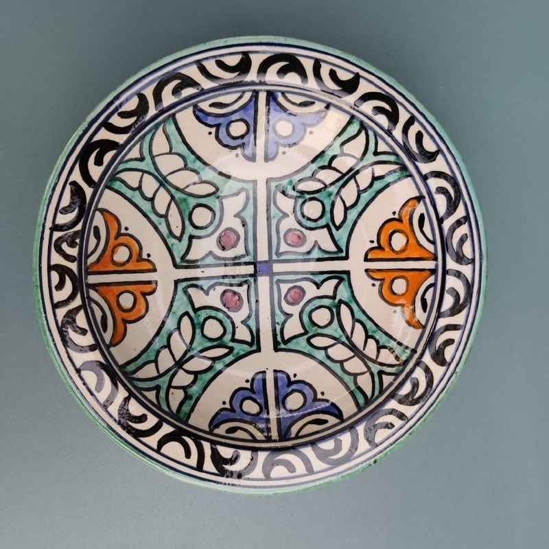 plato de cerámica marroquí