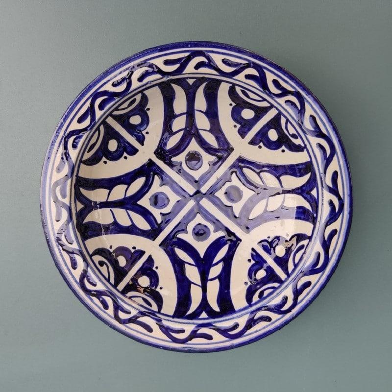 plato árabe de cerámica