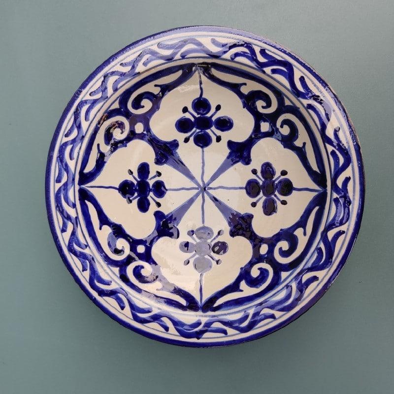 cerámica árabe pintada