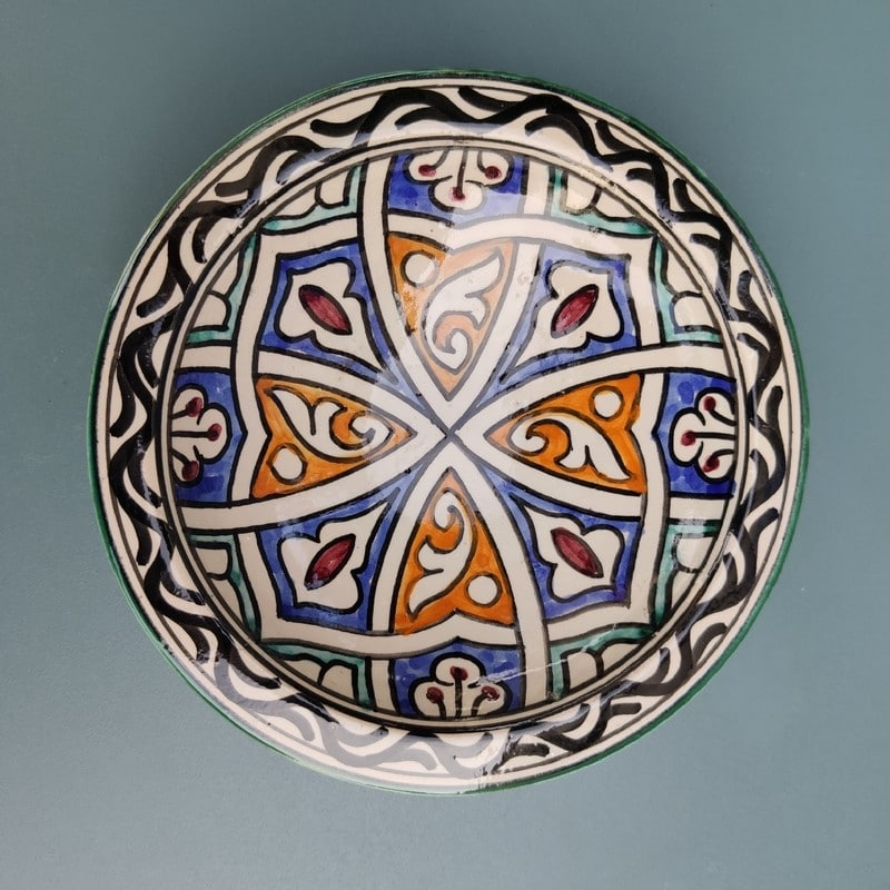 plato cerámica rústica
