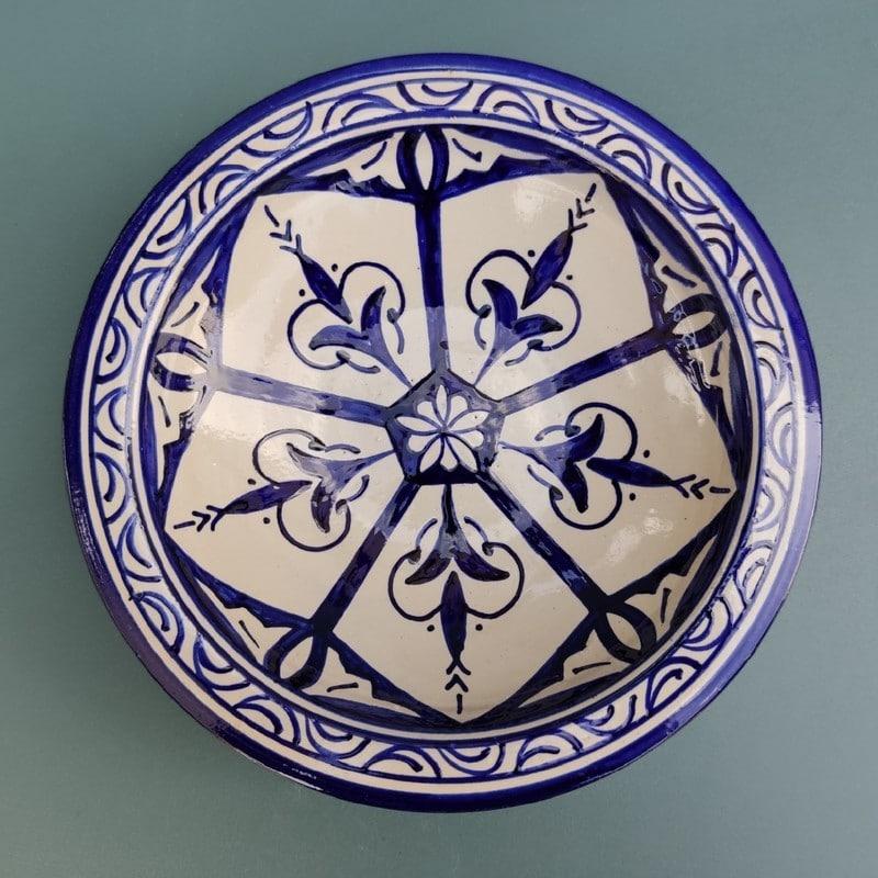 plato de ceramica azul