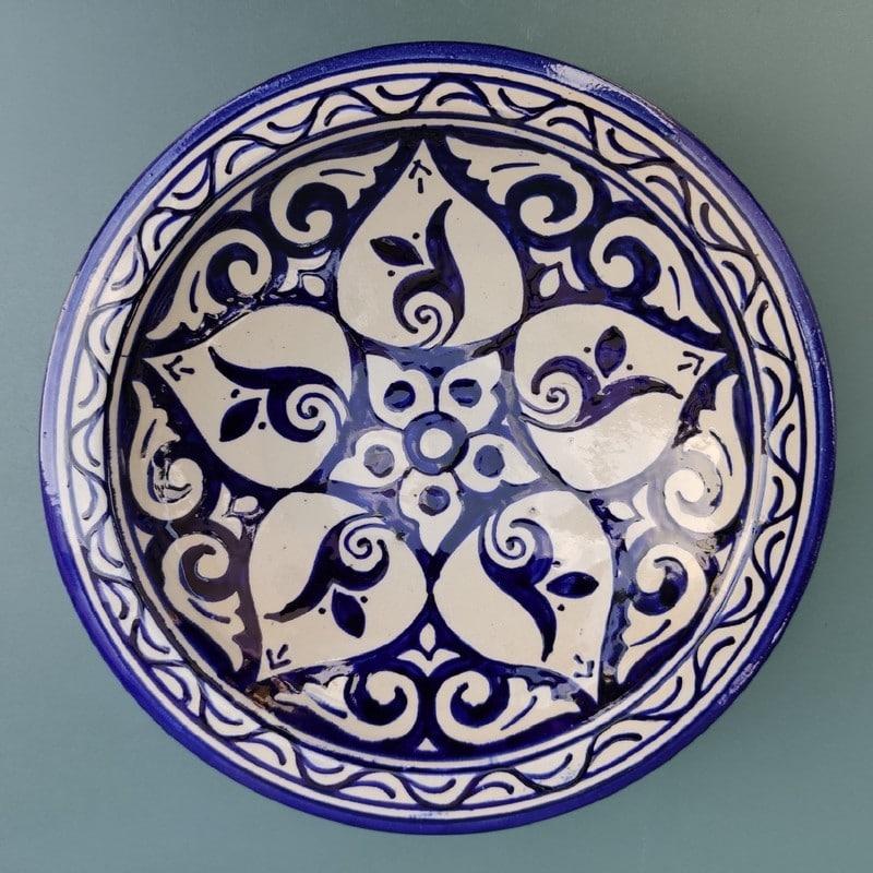plato de ceramica árabe