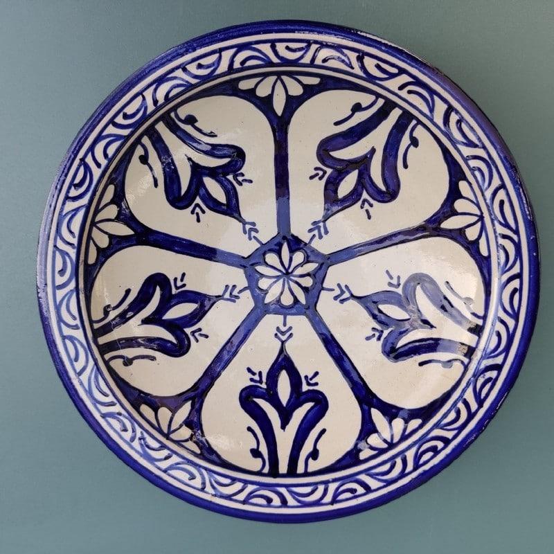 plato pintado para colgar