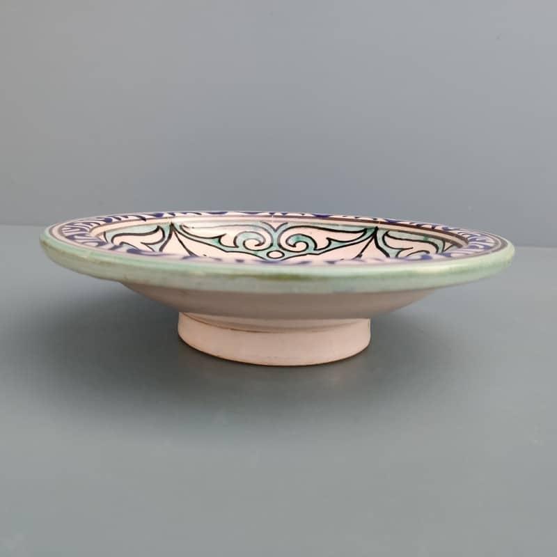 plato de cerámica para decoración árabe