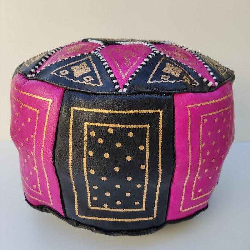 puff marroquí color rosa