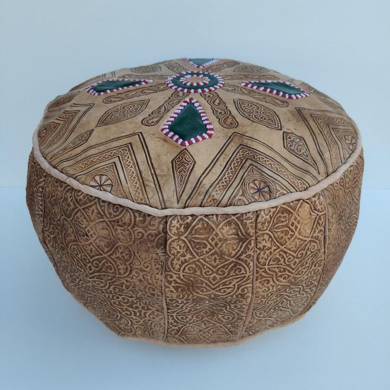 pouff marroquí de piel