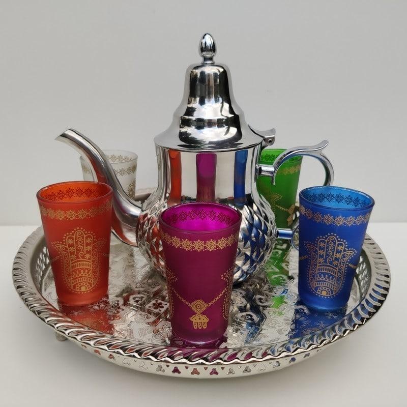 servicio de té árabe