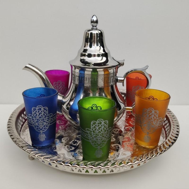 juego de té marroquí grande