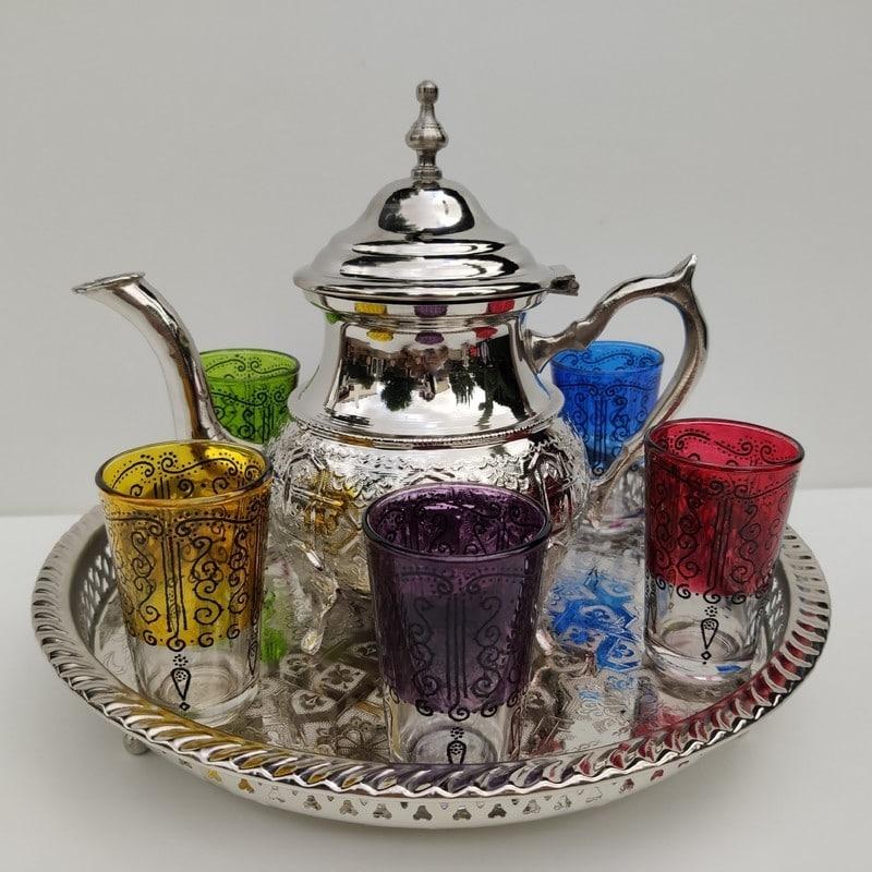 juego de té árabe de marruecos
