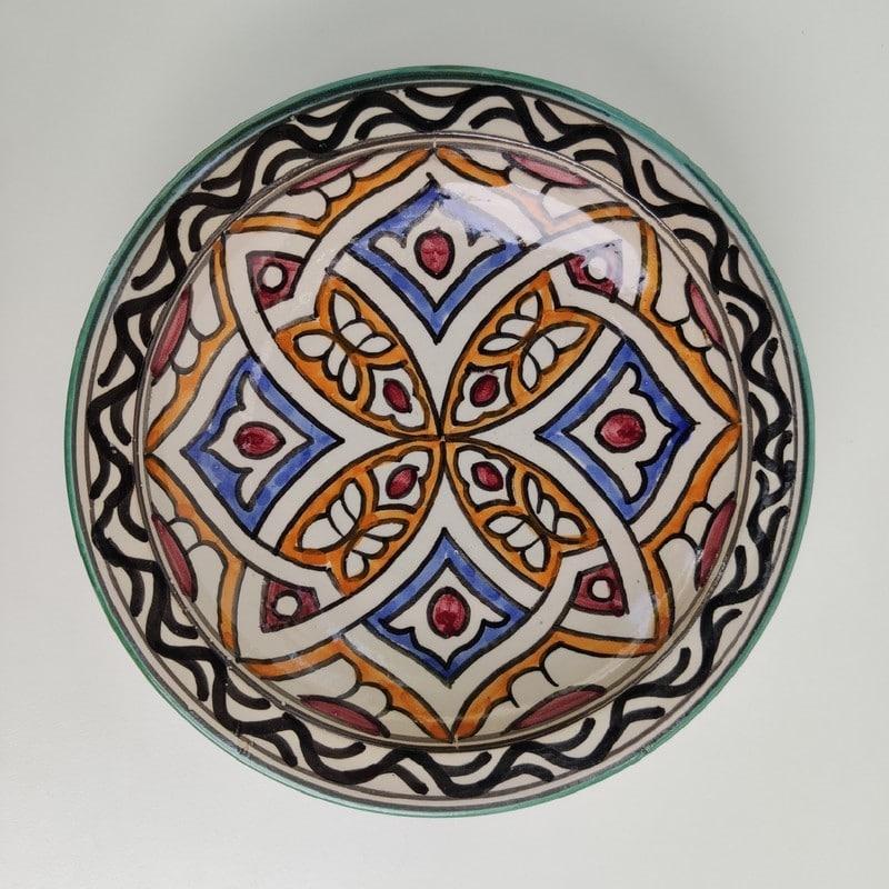 plato de cerámica árabe para colgar