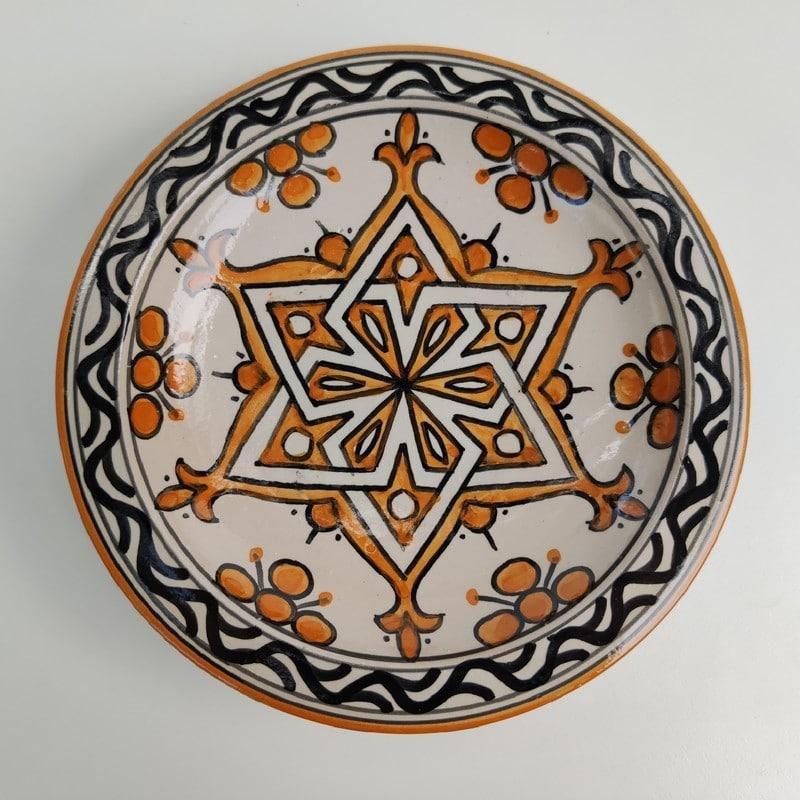 plato de cerámica árabe para decorar