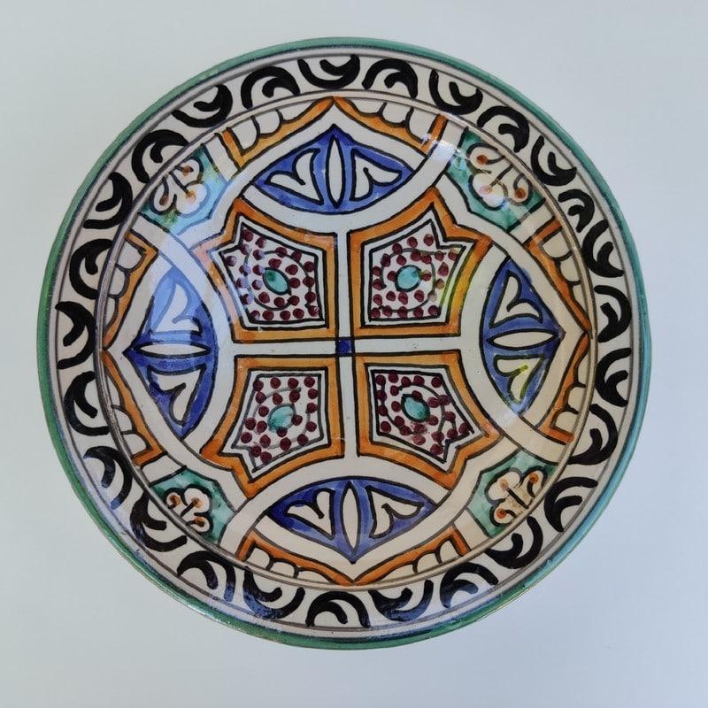 plato de cerámica árabe marroquí