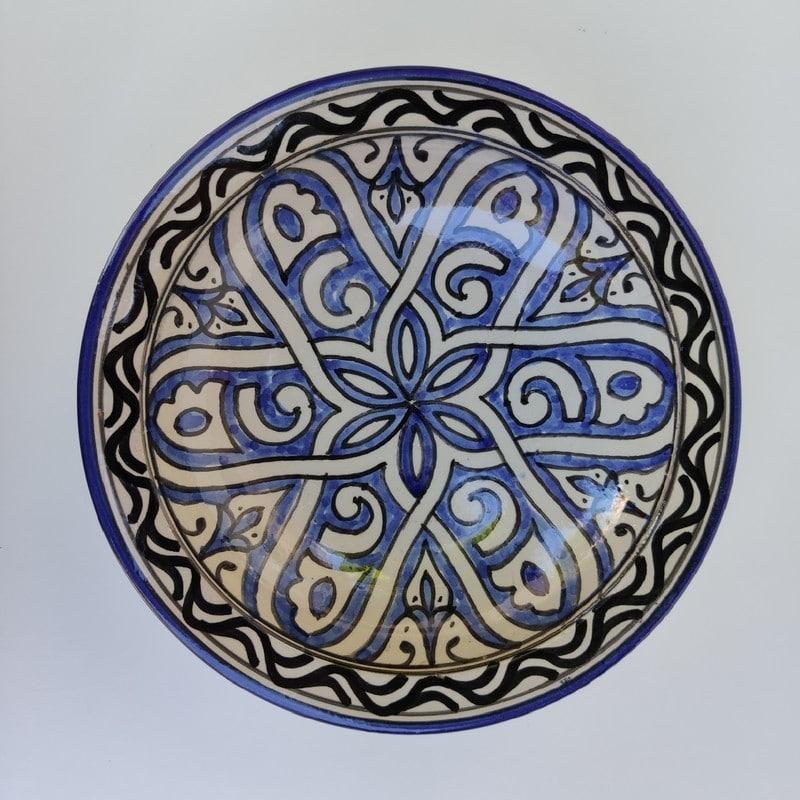 vajilla marroquí de cerámica