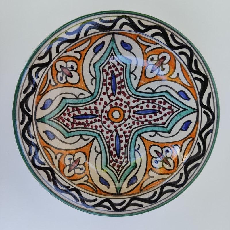 plato pintado de marruecos